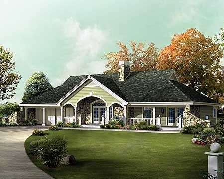 Unique country ranch home plan for Unique country house plans