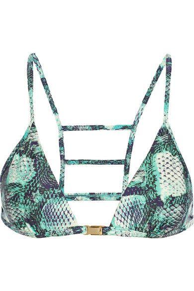 Shop now: Vix snakeskin bikini