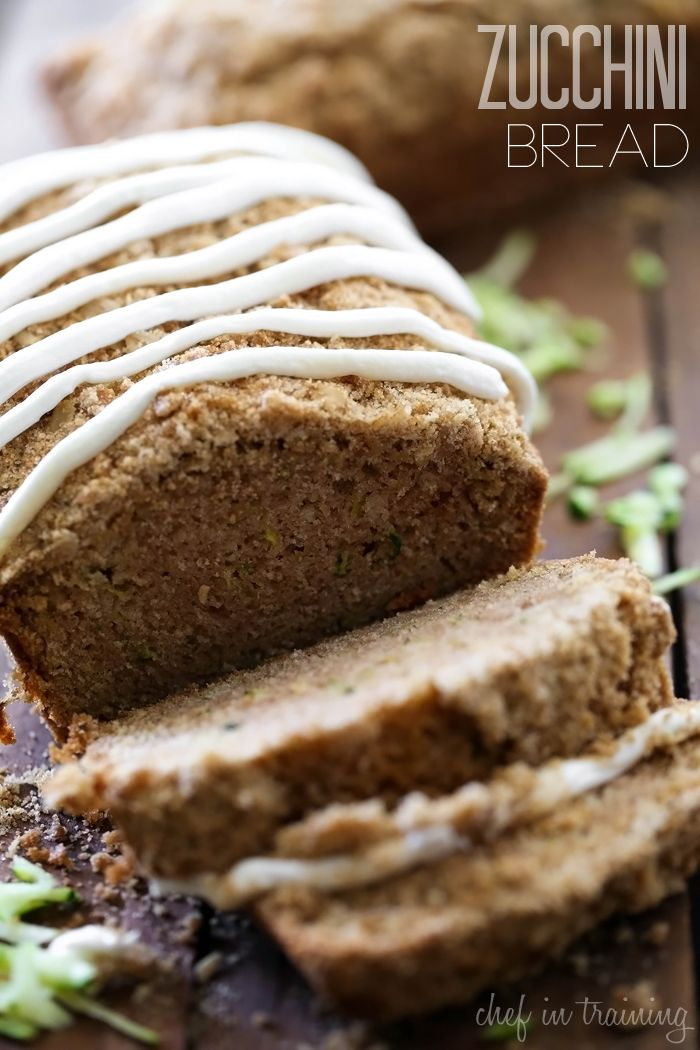 Zucchini Bread from chef-in-training.com …This recipe is so moist ...