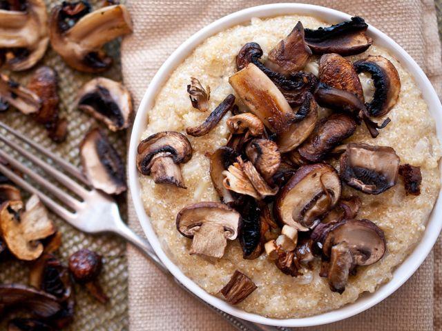 Roasted Mushroom Quinoa Risotto from domesticfits.com