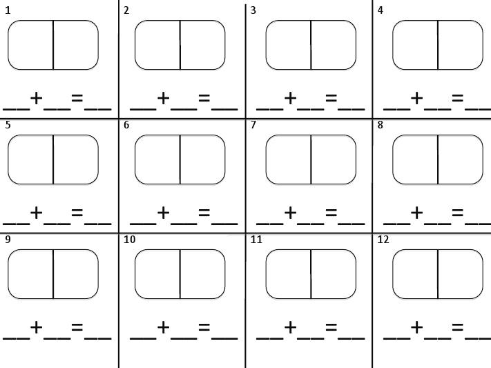 domino addition recording sheet | 3rd Grade Math | Pinterest