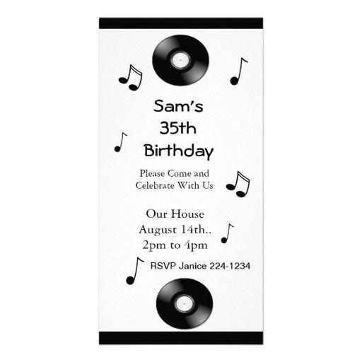 Musical Notes Birthday Invitations Custom Photo Card: pinterest.com/pin/240942648787352451