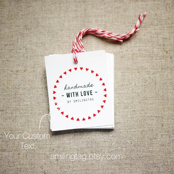 Homemade Wedding Gift Tags : Handmade with Love Personalised Gift TagsWedding Favor TagsThank ...