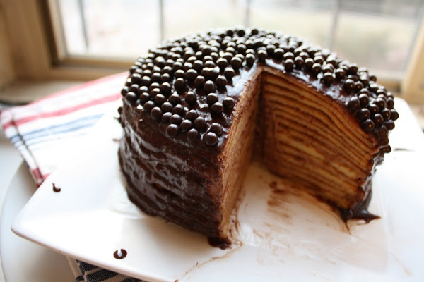 Hazelnut crepe cake | layer cakes | Pinterest