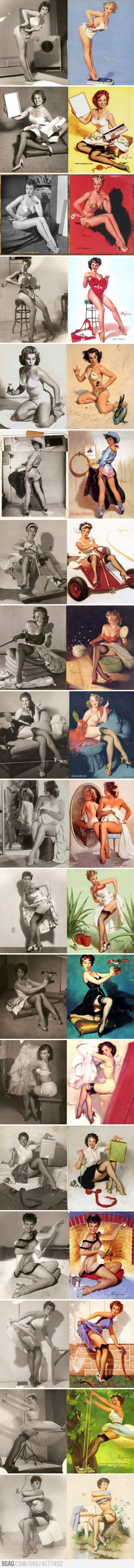 Vintage Real girls vs. Pin-up girls