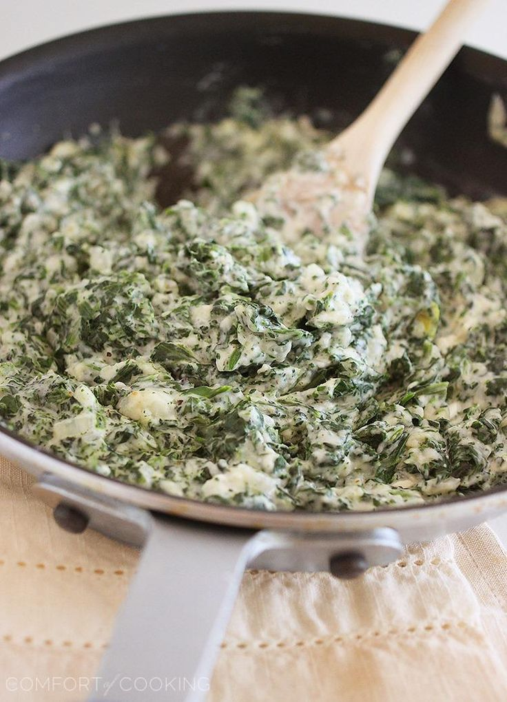 Lighter Creamed Spinach | Recipe