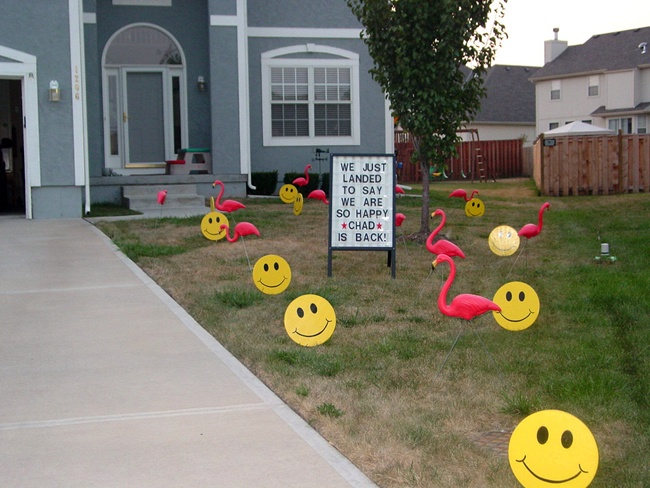 front yard surprises photo gallery birthday lawn