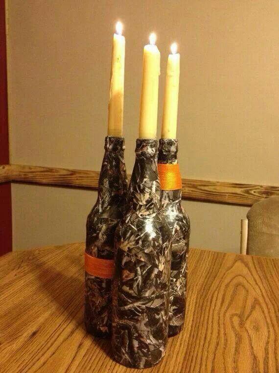 Camo Candles Wedding Reception Pinterest