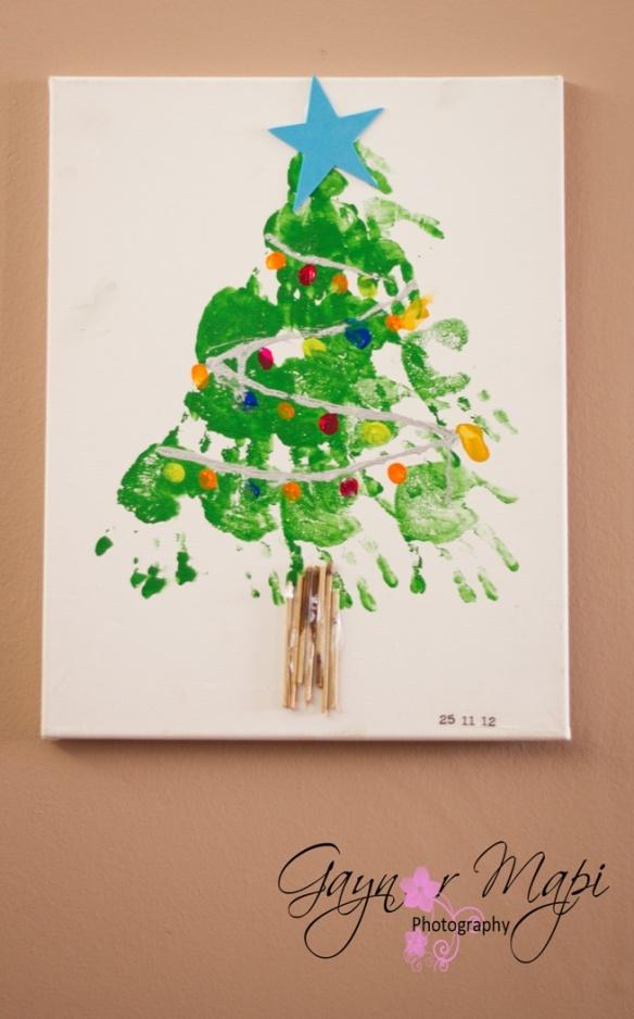 christmas tree handprint - photo #16