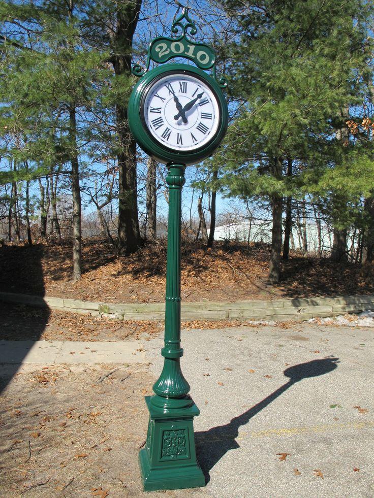 post clock pedestal clock post clocks pinterest