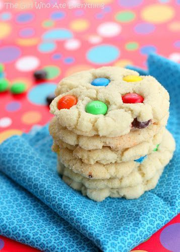 Chewy M&M Sugar Cookies | Yummy recipes | Pinterest