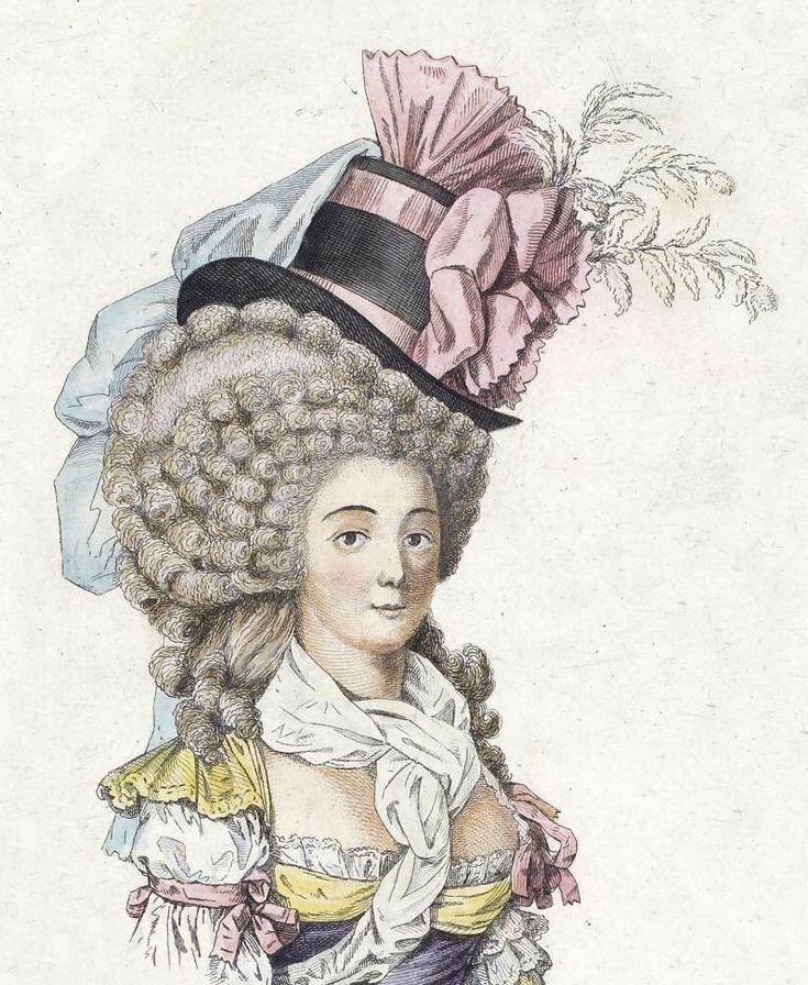 18-го века парик и шляпу
