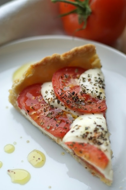 Tomato and Mozzarella Tart | Food | Pinterest