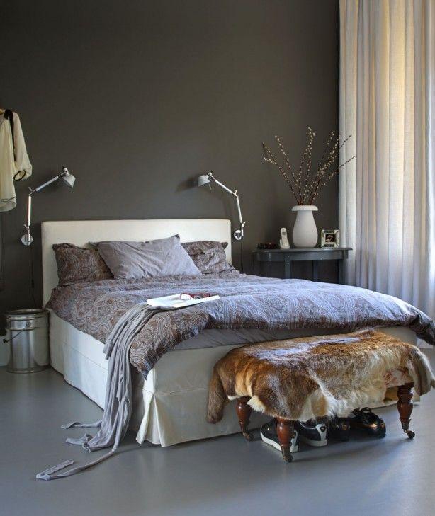 elegant mooie donkere muur huis u tuin pinterest with een slaapkamer met donkere muren
