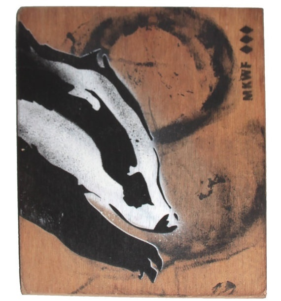 Stencil painting on reclaimed wood ii crafty badger - Painting with stencils on wood ...