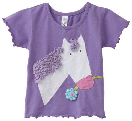 Love U Lots Baby-girls Infant Horse Applique Tee