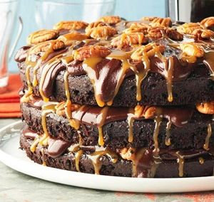 """Another pinner wrote; """"Turtle Cake Recipe from Caffe Latte  - This cake is LEGENDARY in Minnesota, can't believe they gave out the recipe!"""""""