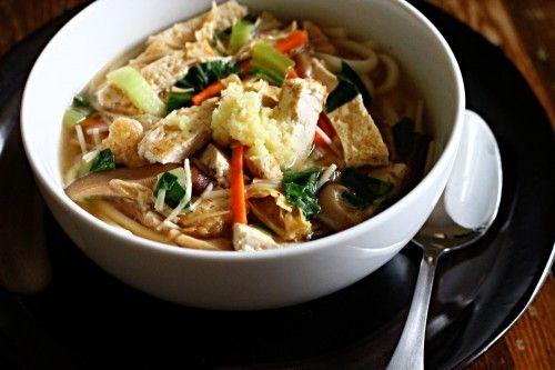 Udon Soup with Vegetables & Tofu | bon appetit | Pinterest