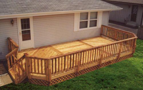 12 39 x 24 39 leisure deck w lattice apron stuff to show my for 10 x 14 deck plans