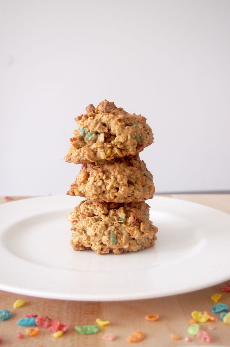 Fruity Pebbles Breakfast Cookies - Gluten Free and Healthy! #ad # ...