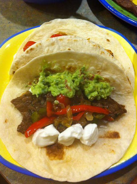 Steak Fajitas with Guacamole. recipe, cooking, fajitas, steak, lime ...
