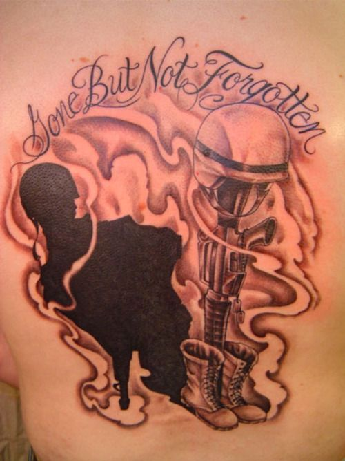 gone but not forgotten memorial tattoo military tattoos pinterest. Black Bedroom Furniture Sets. Home Design Ideas