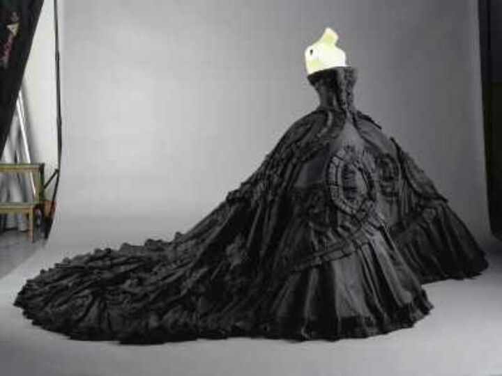 Gotic style black wedding dress gotic style emo for Black wedding dresses meaning