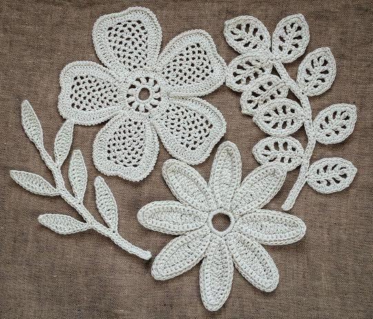 Irish Crochet : Irish Crochet Lab: Crochet motifs and join with Irish crochet to make ...