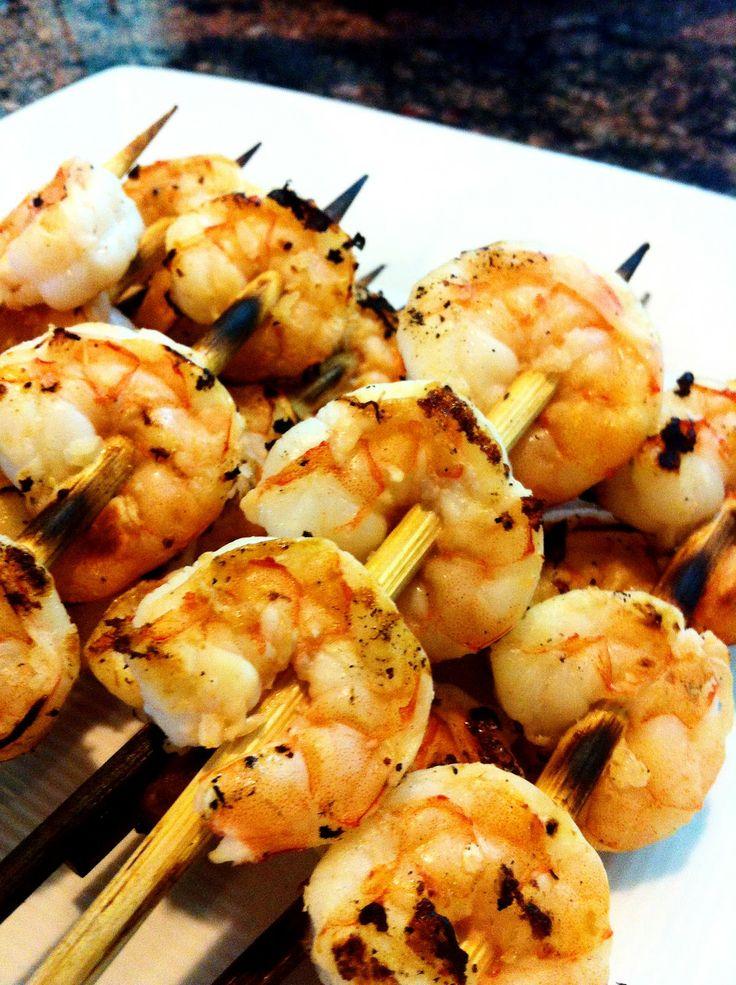 Super Simple Garlic-Lime Shrimp Kebobs | Seafood | Pinterest