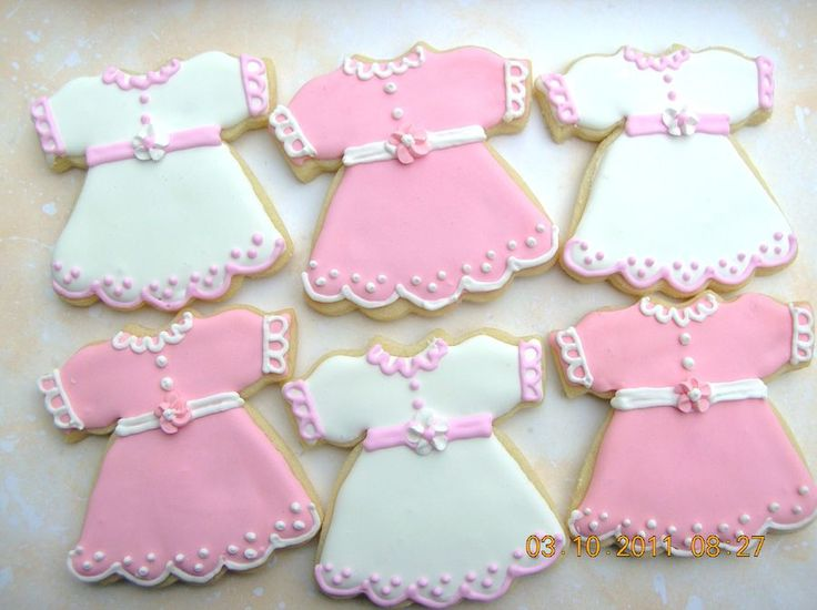 girl baby shower cookies cookies my style pinterest