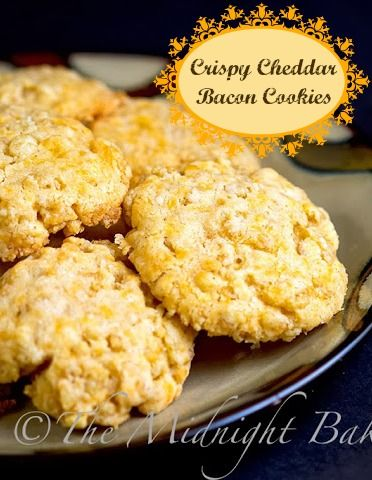Crispy Cheddar Bacon Cookies.....anything with Cheese and Bacon has to ...