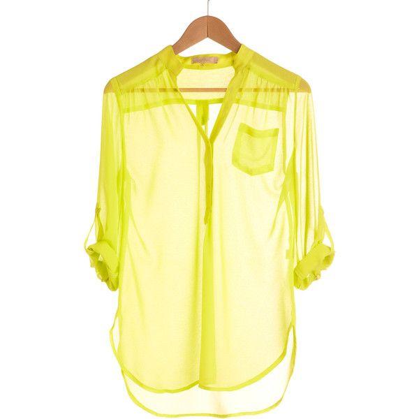 Yellow Sheer Blouse 32