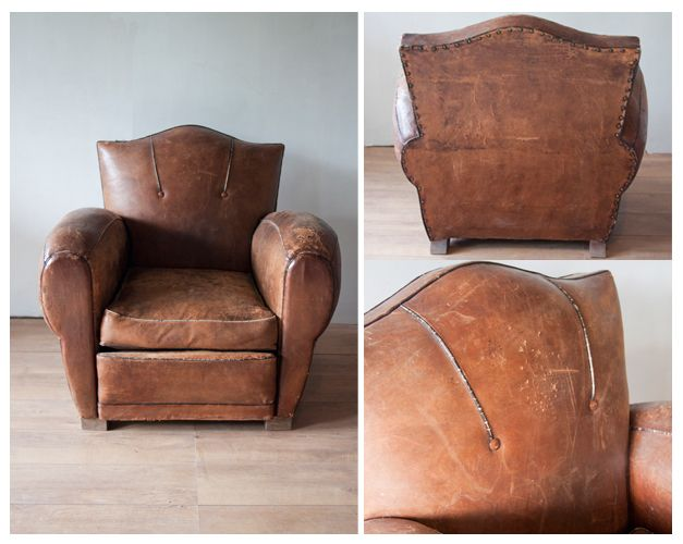 vintage_fauteuil_bruin_leer_sfeer  For the Home  Pinterest