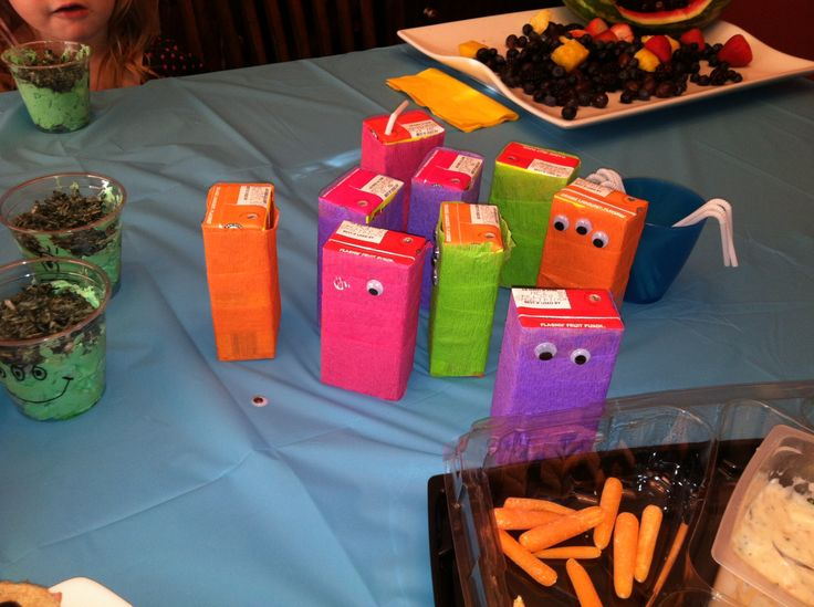 Monster birthday juice boxes | Teddy's turning one! | Pinterest