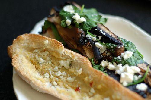 Portobello Spinach Sandwich with Garlic & Goat Cheese | The Baking ...