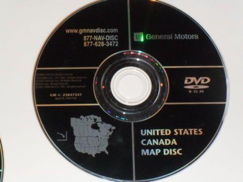 GMC CHEVROLET HUMMER NAVIGATION DVD CD DISC 25847541 DISK GPS MAP