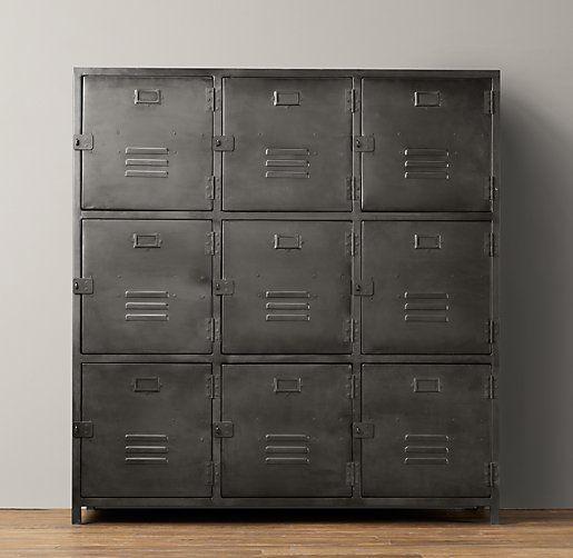 vintage locker 9 door cabinet 1699 storage pieces i love pinter