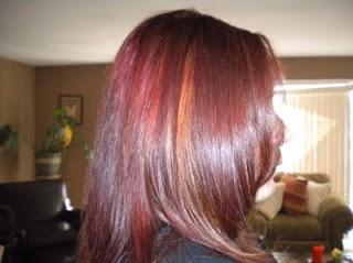 burgundy hair with caramel highlights | My Style | Pinterest