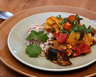 Moroccan Chicken Recipe with Eggplant, Tomato & a Pile of Spices ...