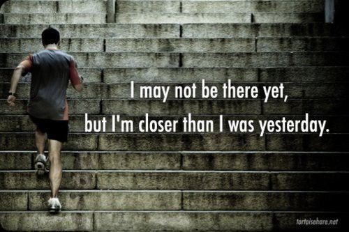 You have to start somewhere. If you're at your worst, it can only get better.