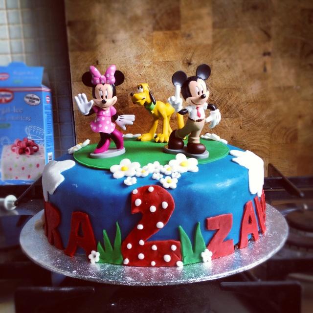 Disney inspired cake for twins (boy & girl) birthday