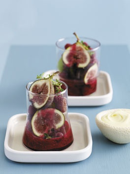 Figs in iced raspberry and thyme compote | Figs | Pinterest