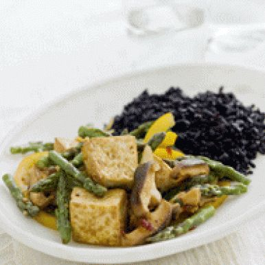 Asparagus Tofu Stir-Fry with Black Rice | Plant Based Dishes And Deli ...
