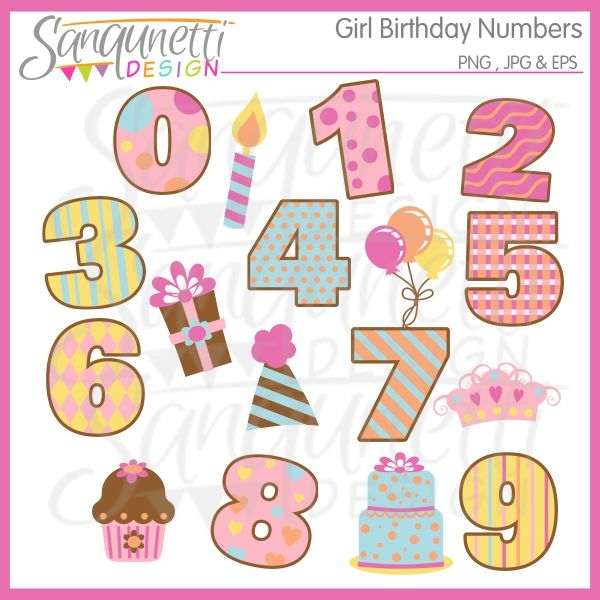 clipart birthday numbers - photo #16