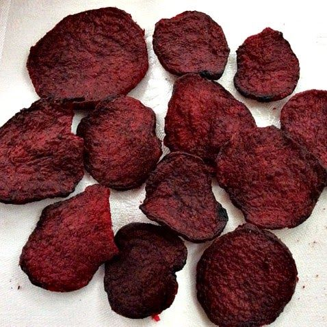 Oven Baked Beet Chips;These are chips you can feel good about eating!