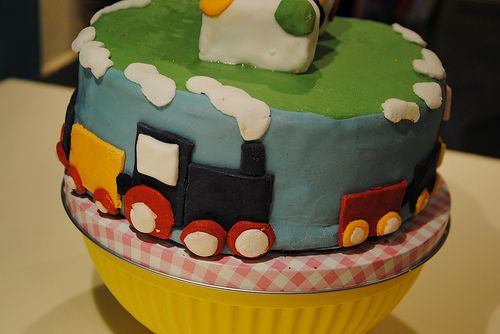 Birthday Cake Pictures For 2 Year Old Boy : Train birthday cake for 2 year old boy My Baking and ...