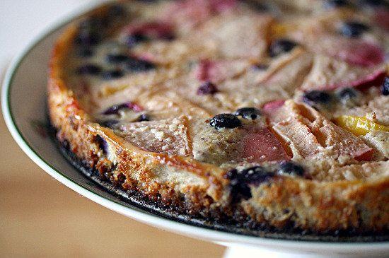 Plum & blueberry custard tart with a hazelnut crust. Oh, and the crust ...