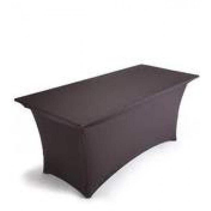 6ft Black Spandex Lycra Rectangular Trestle Table Cloth Cover