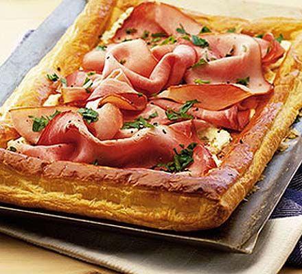 No-fuss ham & crème fraîche tart recipe - Recipes - BBC Good Food