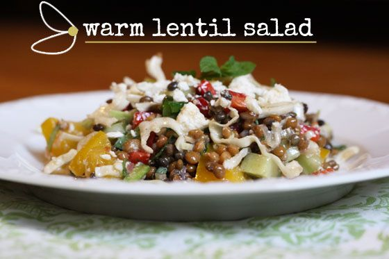 warm lentil salad | Feasting...Food & Drink | Pinterest